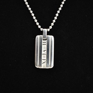 Tiffany & Co. Jewelry - TIFFANY & CO Sterling Silver Atlas Dog Tag (rp)